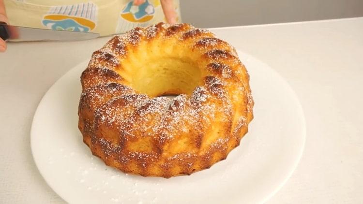 творожный кекс в духовке готов