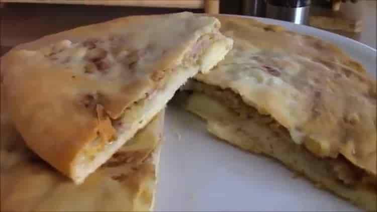 Хачапури с мясом по пошаговому рецепту с фото