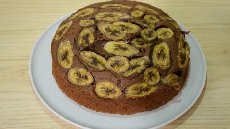 Супер вкусный шоколадно-банановый кекс
