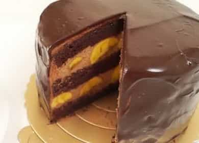 Шоколадно-банановый торт — невероятно вкусный
