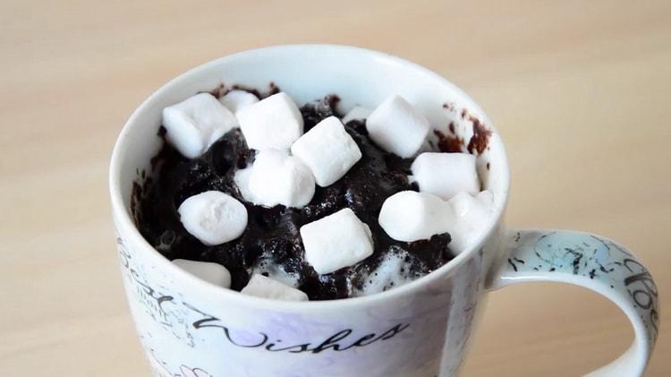 Шоколадный кекс в микроволновке по пошаговому рецепту с фото