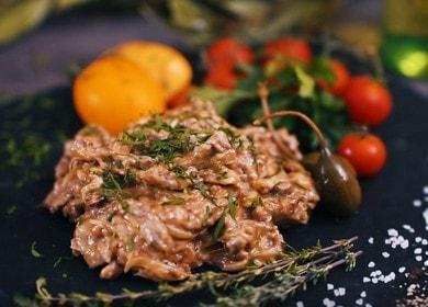 Классический рецепт бефстроганов из говядины со сливками 🥩