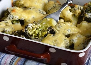 Готовим брокколи в духовке с сыром по простому рецепту с пошаговыми фото.