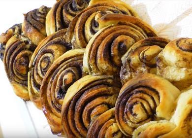 Ароматные булочки с корицей: готовим с пошаговыми фото и видео.