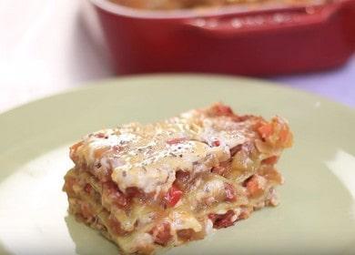Аппетитная вегетарианская лазанья: готовим по пошаговому рецепту с фото.