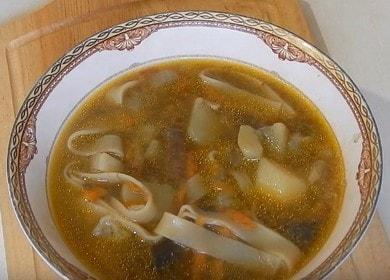 Постная грибная лапша — необычный и вкусное блюдо 🍝