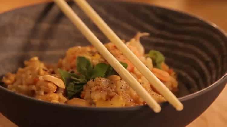 рис с креветками готов