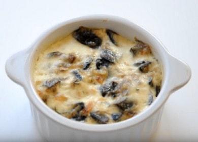 Готовим вкуснейший жульен: классический рецепт с грибами и со сметаной.