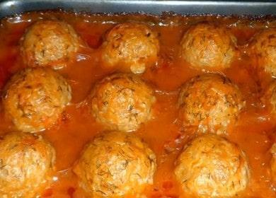 Готовим нежные куриные тефтели в духовке по пошаговому рецепту с фото.