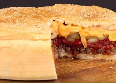 Мясной пирог Чизбургер — очень вкусный рецепт 🍔