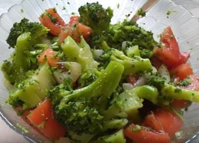 Готовим вкусный салат из брокколи по пошаговому рецепту с фото.