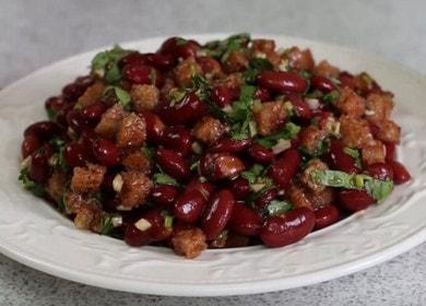 Готовим вкусный постный салат с консервированной фасолью по пошаговому рецепту с фото.