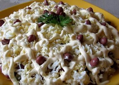 Как научиться готовить вкусный салат с курицей и фасолью консервированной 🥗