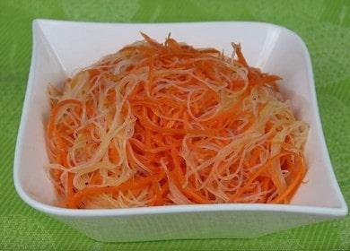 Готовим пикантный салат с фунчозой и корейской морковью по пошаговому рецепту с фото.