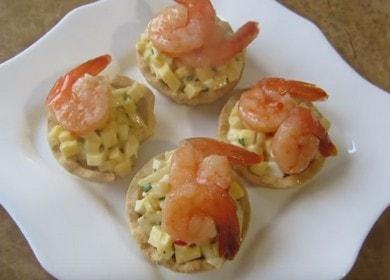 Очень вкусные тарталетки с креветками к праздничному столу 🦐