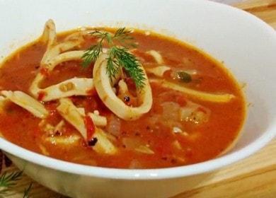 Тушеные кальмары в томатном соусе — вкусные и очень нежные 🦑