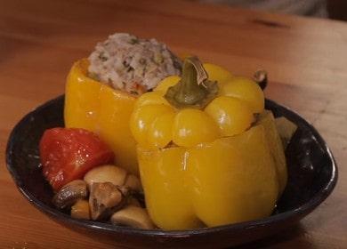 Ароматный фаршированный перец: рецепт с пошаговыми фото и видео.