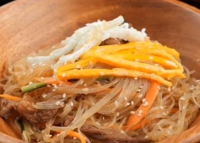 Корейская лапша фунчоза с говядиной в соусе 🍝