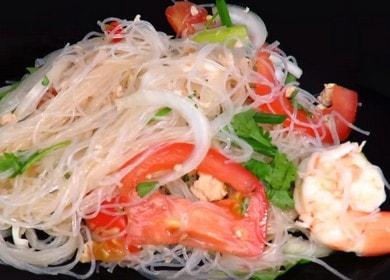 Пикантная фунчоза с морепродуктами: готовим по пошаговому рецепту с фото.