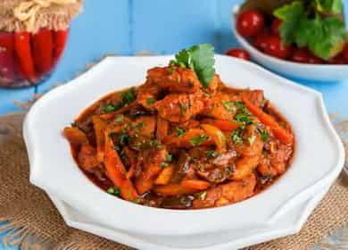 Вкусный рецепт приготовления азу из индейки на сковороде дома