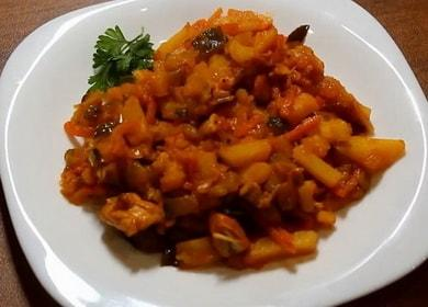 Азу из курицы с соленіми огурцами — очень вкусный рецепт 🍲