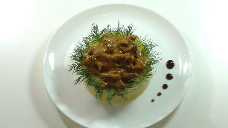 Рецепт приготовления вкусного бефстроганова из говядины