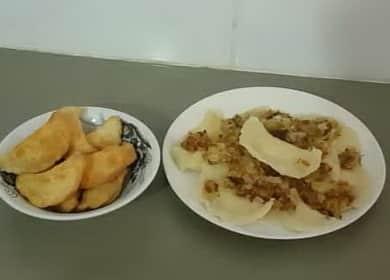 Вкусные жареные вареники с картошкой 🥟 🥟 🥟