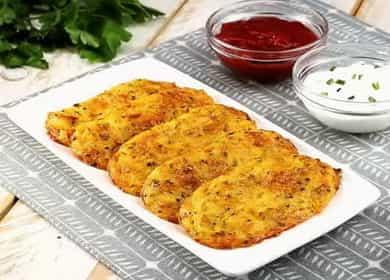 Вкусные запеченные картофельные драники с сыром в духовке 🥔