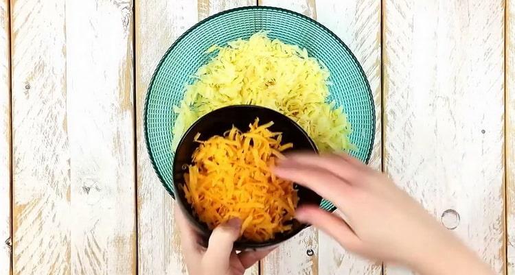 Для приготовления драников натрите сыр
