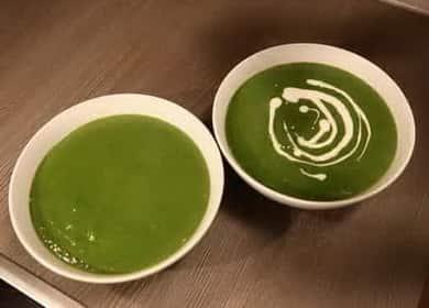 Крем-суп из шпината по пошаговому рецепту с фото