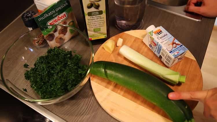 Готовим крем суп из шпината