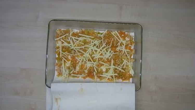 Лазанья из лаваша с курицей и овощами по пошаговому рецепту с фото