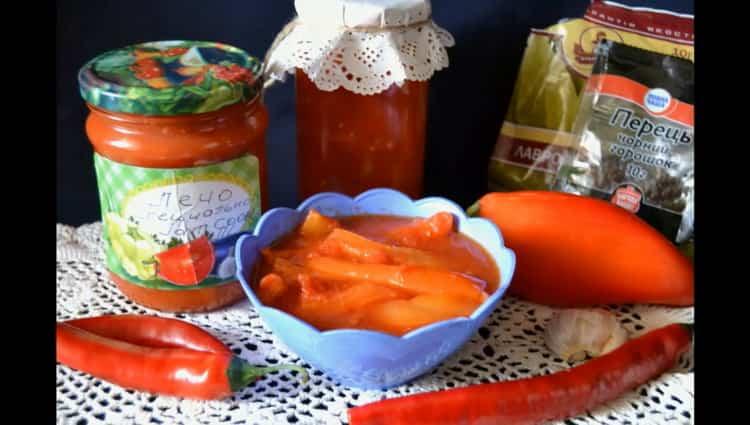 Лечо из болгарского перца по пошаговому рецепту с фото