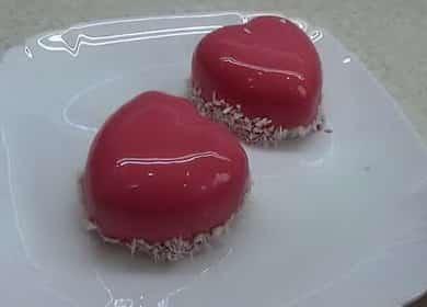 Муссовое пирожное «Малина» с зеркальной глазурью 🍰