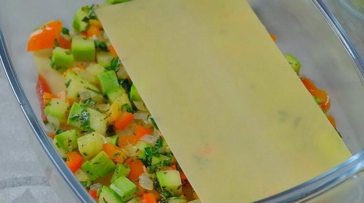 Для приготовления овощной лазаньи подготовьте листья для лазаньи