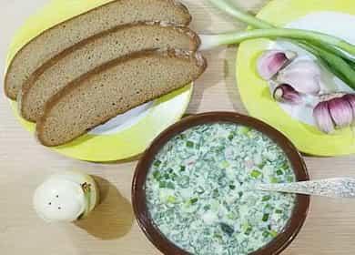 Рецепт классической освежающей окрошки на кефире