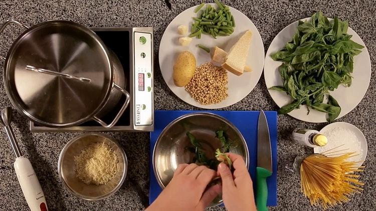 Паста с соусом песто по пошаговому рецепту с фото
