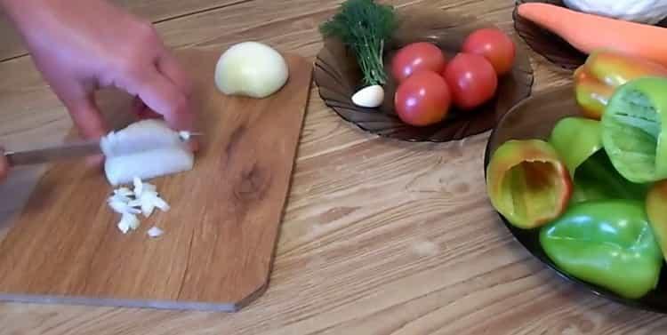 Для приготовления перца, подготовьте ингредиенты