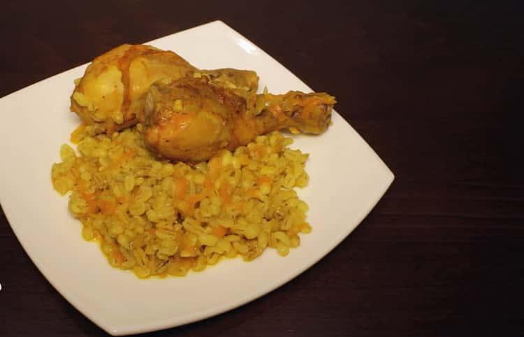 Перловка с курицей в мультиварке: пошаговый рецепт с фото