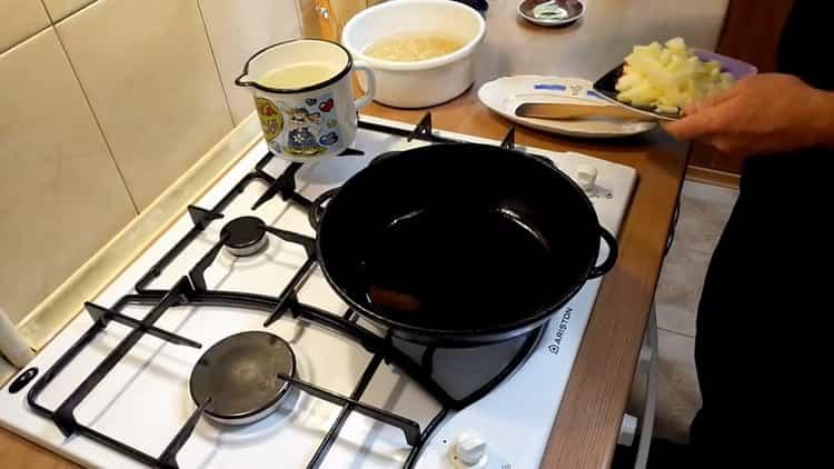 Для приготовления перловки подготовьте ингредиенты