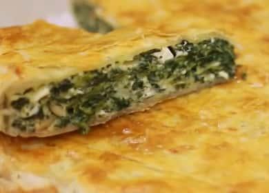 Вкуснейший пирог со шпинатом и сыром из слоеного тест 🥧
