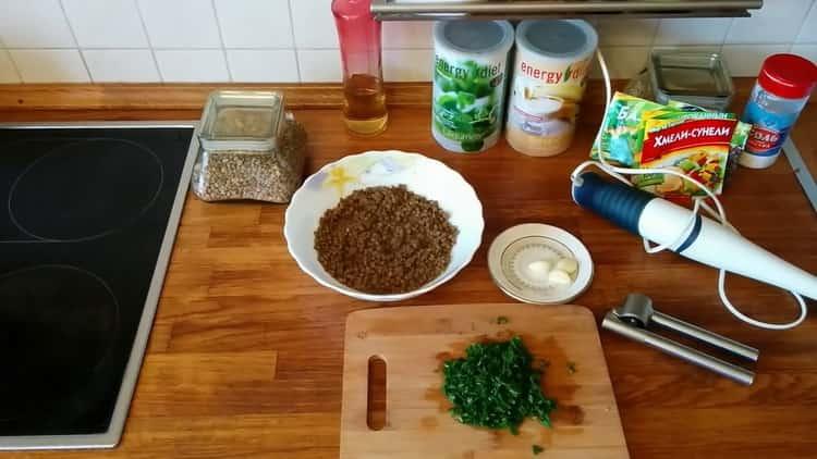 Для приготовления пюре подготовьте ингредиенты