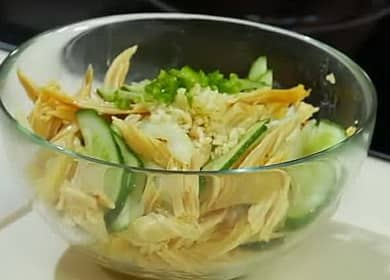 Салат из соевой спаржи по пошаговому рецепту с фото