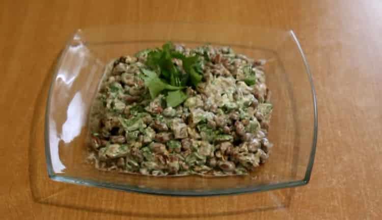 Салат с говядиной и фасолью: пошаговый рецепт с фото