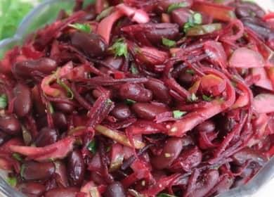 Салат с красной фасолью консервированной: пошаговый рецепт с фото