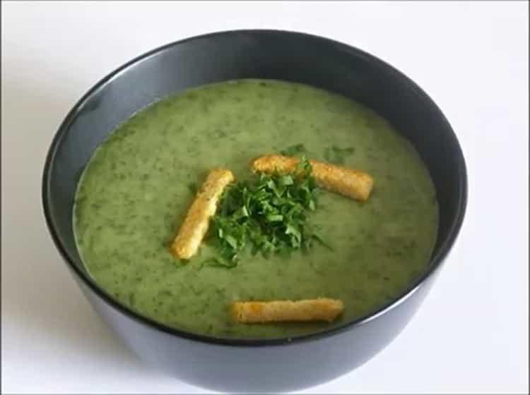 Суп-пюре из шпината по пошаговому рецепту с фото