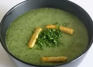 Ароматный суп-пюре из шпината со сливками 🍵