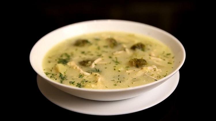 Суп с брокколи и курицей по пошаговому рецепту с фото