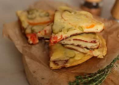 Простой рецепт вкусного теста для пиццы на сковороде 🍕