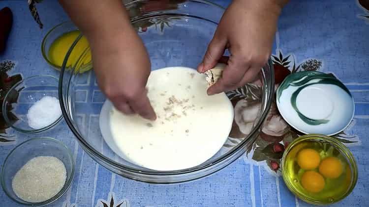 Готовим тесто на ряженке
